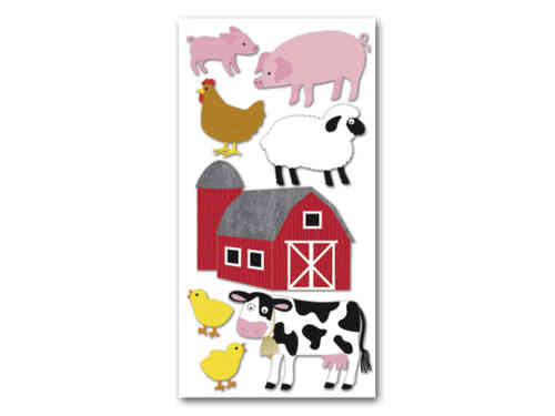 "Sticker 3D ""Animaux de la ferme"""