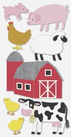 "Stickers 3D ""Animaux de la ferme"""