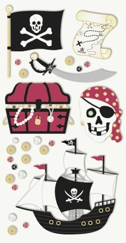 "Sticker 3D ""Pirates"""
