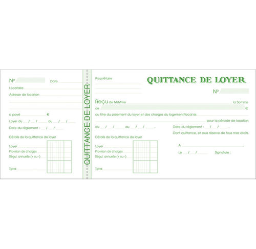 "Carnet à souche ""Quittances de loyer"""