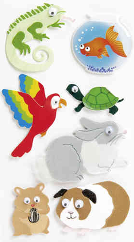 "Sticker 3D ""Animaux familiers"""