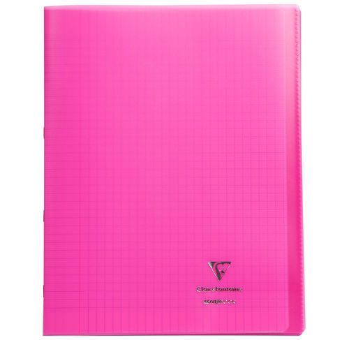 "Cahier ""Koverbook"" - Polypro - 24x32 - 96 pages - Séyès - Rose"