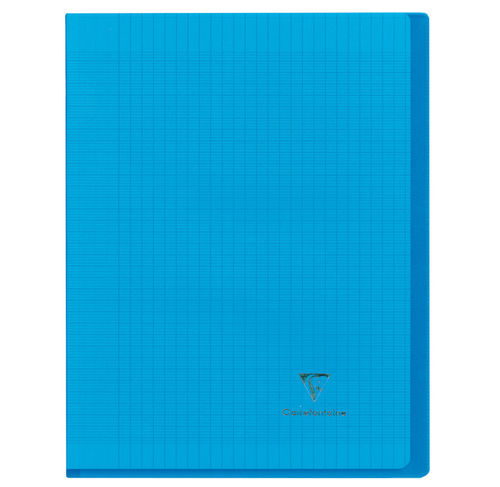 "Cahier ""Koverbook"" - Polypro - 24x32 - 96 pages - Séyès - Bleu transparent"