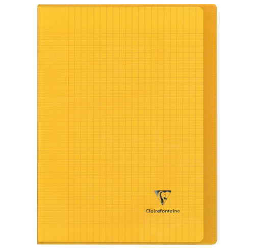 "Cahier ""Koverbook"" - Polypro - 24x32 - 96 pages - Séyès - Jaune transparent"