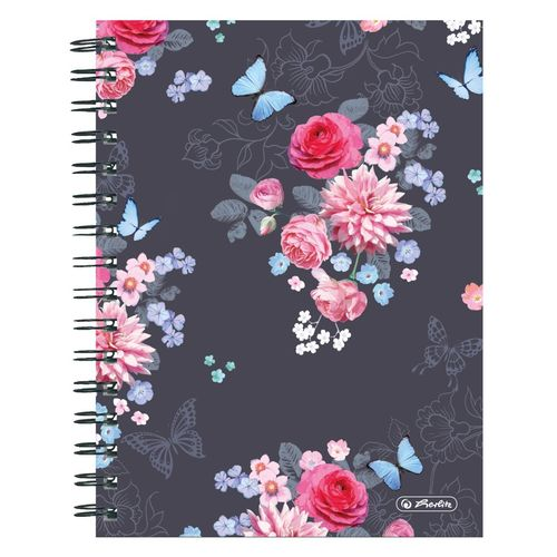 "Cahier à spirales Ladylike ""Flowers"" - A5 - 200 pages"