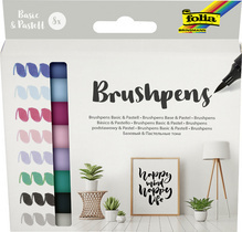 "Feutres pinceau Brush Pens ""Basic & Pastell"", kit de 8"