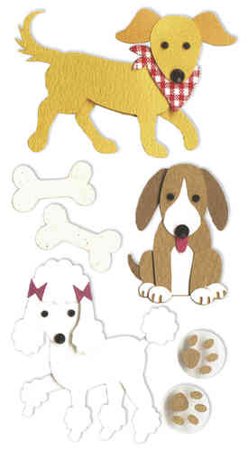 "Sticker 3D ""Chiens"""