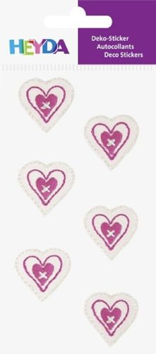 "Sticker textile ""Coeurs roses"""
