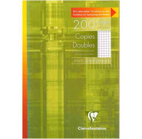 Copies doubles non perforées 21x29,7 - 200 pages - 5x5