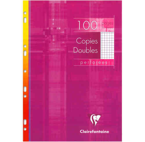 Copies doubles perforées 21x29,7 - 100 pages - 5x5