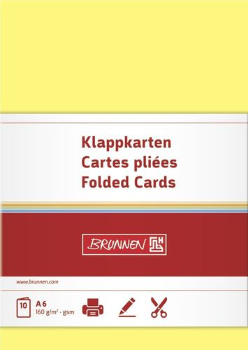 Cartes doubles - 105 x 148 mm - Jaune