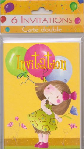 "Cartons d'invitation ""Ballons"""