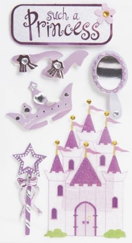 "Sticker 3D ""Princesse"""