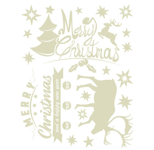 "Stickers thermostatiques ""Merry Christmas"""