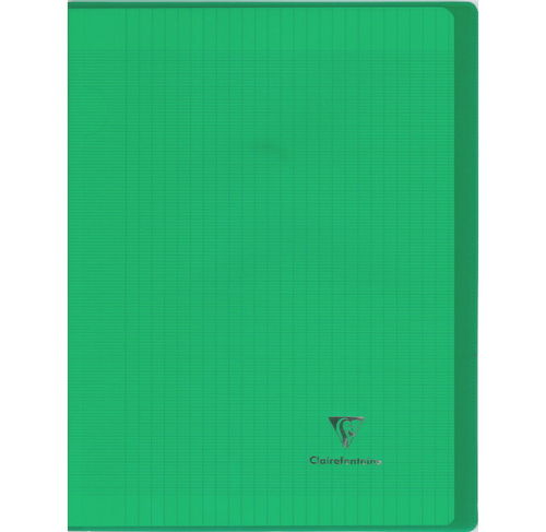 "Cahier ""Koverbook"" - Polypro - 24x32 - 96 pages - Séyès - Vert transparent"