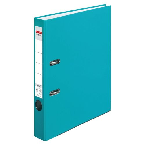 Classeur max.file protect, A4, 50 mm - Turquoise