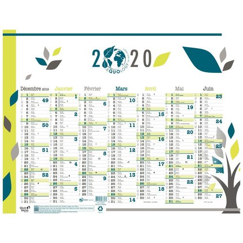 "Calendrier mural ""Equology"" 2020, 430 x 335 mm"