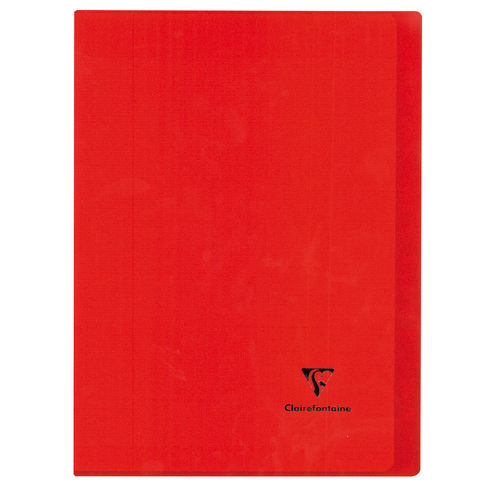 "Cahier ""Koverbook"" - Polypro - 24x32 - 96 pages - Séyès - Rouge"