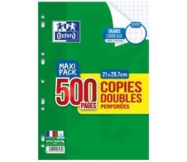 Copies doubles 21x29.7 - Séyès - Perforées - 500 pages