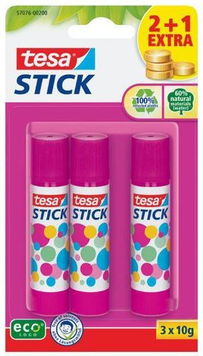 Stick Bâton de colle, pack de 3, 10 g, rose