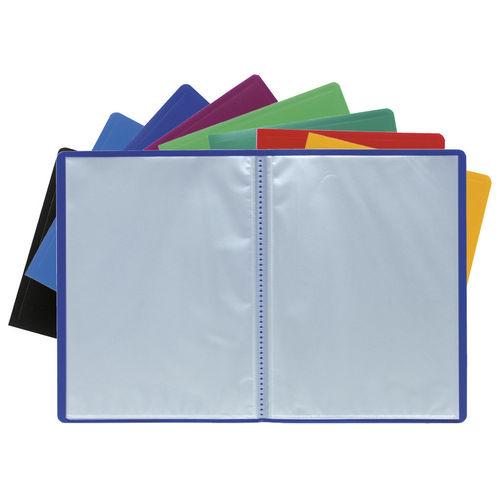 Protège-documents - A4 - 200 vues - Assortis