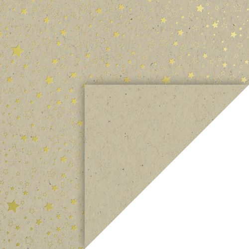 "Papier kraft "" Étoiles "" A4 - Or brillant"