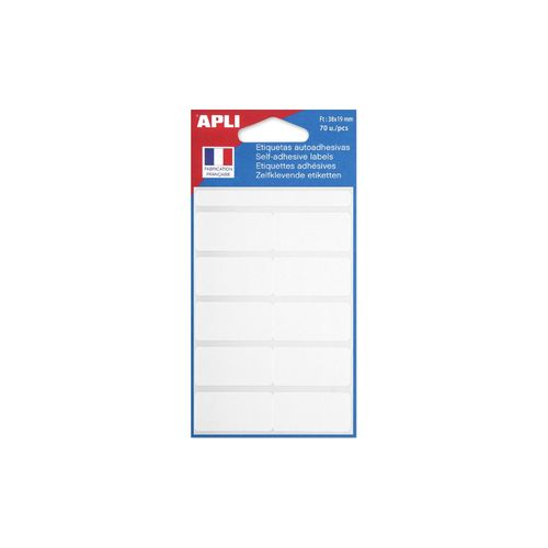 Etiquette multi-usages, 19 x 38 mm - Blanc