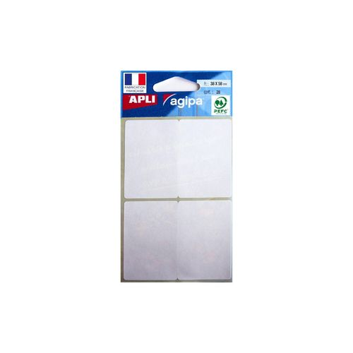 Etiquette multi-usages, 38 x 58 mm - Blanc