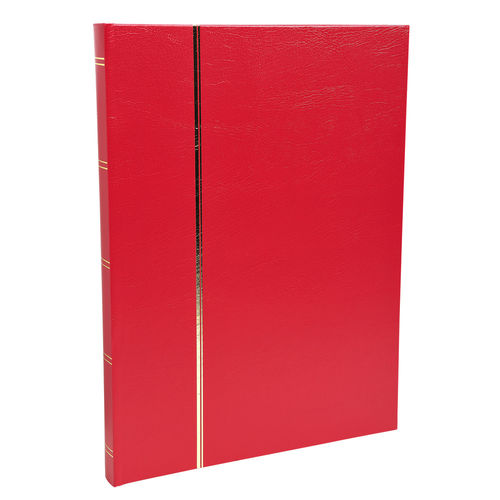Album de timbres, 225 x 305 mm, 64 pages - Rouge