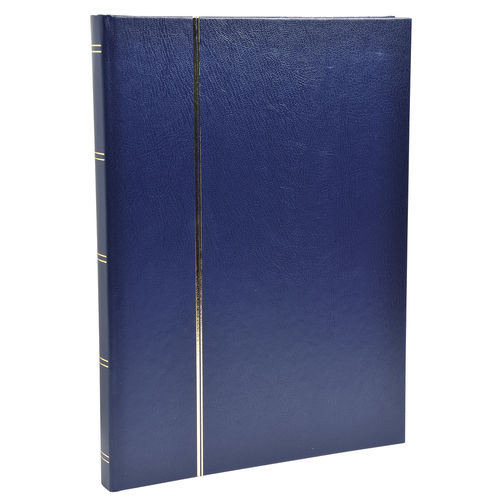 Album de timbres, 225 x 305 mm, 48 pages - Bleu