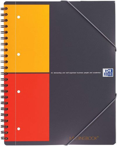 "Cahier ""Meetingbook"" - A4+ - 160 pages - 5x5 + marges"