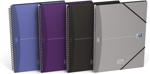"Cahier ""Meetingbook"" - A4+ - 180 pages - 5x5 + marges"